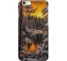 Snow at Big Lake iPhone Case/Skin