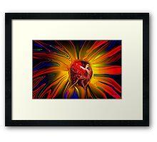 Power in a Flower Framed Print