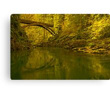 Footbridge Landscape Canvas Print