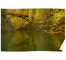 Footbridge Landscape Poster