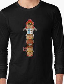 Street Fighter 2 Totem Long Sleeve T-Shirt