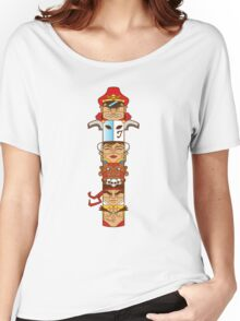 Street Fighter 2 Totem Women's Relaxed Fit T-Shirt