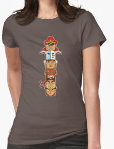 Street Fighter 2 Totem Womens Fitted T-Shirt