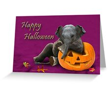 Halloween Elephant Greeting Card