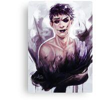 Ink Black Soul Canvas Print