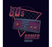 80s gamer forever Photographic Print