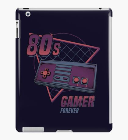 80s gamer forever iPad Case/Skin