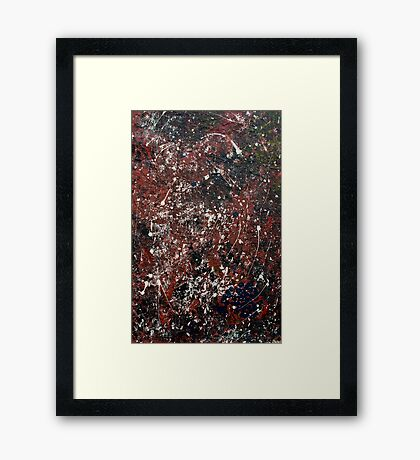 Blue quandong seeds in pool - Main arm valley NSW, Australia Framed Print