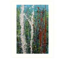 the welcome home - Blue quandongs in forest 3. Main Arm valley NSW, Astralia Art Print