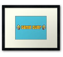 Flappy Bird Game Over Framed Print