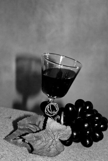 Wild Grapes and Brandy Wine by Sherry Hallemeier