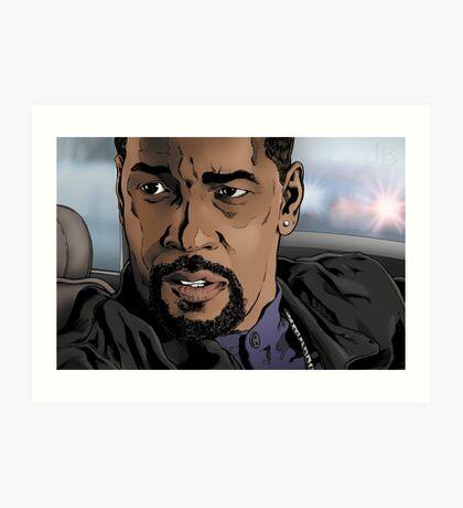 Denzel, Training Day Art Print