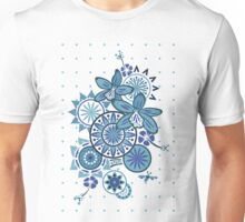 Tropical Blues Orchids & Wheels Unisex T-Shirt