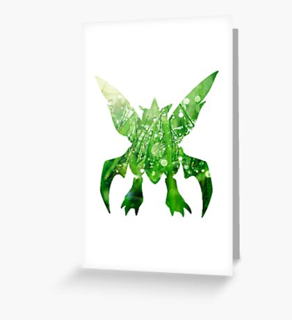 scyther used cut Greeting Card