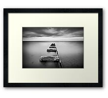 Charging into the Night Framed Print
