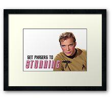 Set Phasers To Stunning Kirk Framed Print