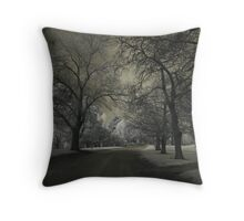 Dark Park Throw Pillow