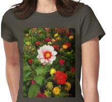 Spring Patchwork Womens Fitted T-Shirt