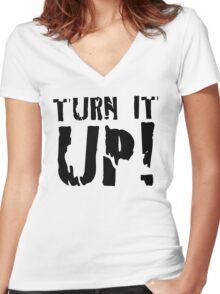 LIGHT - TURN IT UP Women's Fitted V-Neck T-Shirt