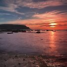 Staithes sunset by Phillip Dove
