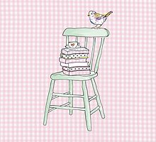 bird on a chair knows what's up! by tiffatron