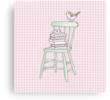 bird on a chair knows what's up! Canvas Print