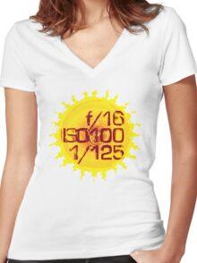 Sunny 16 Women's Fitted V-Neck T-Shirt
