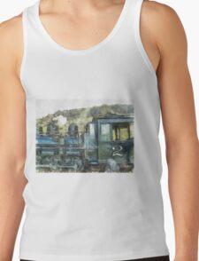 Steam Engine Railway Train Tank Top