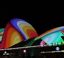 """""""Vivid"""" Lighting The Sails 2011 - III by Anthony Ogle"""