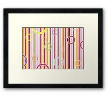 Colorful abstract vector Framed Print