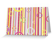 Colorful abstract vector Greeting Card