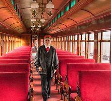 Strasburg Railway - Railway Conductor by Marilyn Cornwell