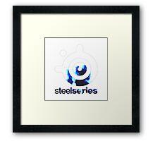 STEELSERIES Blue Fire Design Framed Print