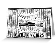 Hot Pun for your Weiner Greeting Card