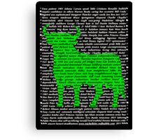 """""""The Year Of The Ox / Oxen / Buffalo / Cow""""  Canvas Print"""