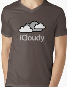 Looking iCloudy Mens V-Neck T-Shirt