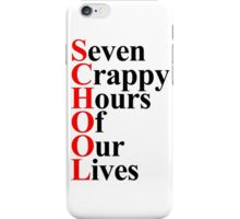 School acrostic iPhone Case/Skin