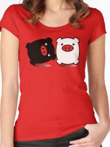 TWINPIGS 1 Women's Fitted Scoop T-Shirt