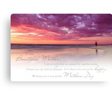 Mothers Day (Card From Child To Mother) Canvas Print