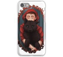Little Red and BigBad Wolf iPhone Case/Skin