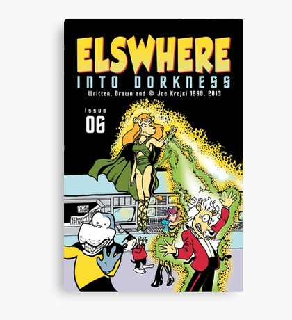 Into Dorkness Cover From Elsewhere Canvas Print
