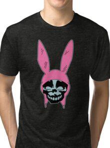 Grey Rabbit/Pink Ears Tri-blend T-Shirt