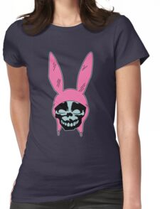 Grey Rabbit/Pink Ears Womens Fitted T-Shirt