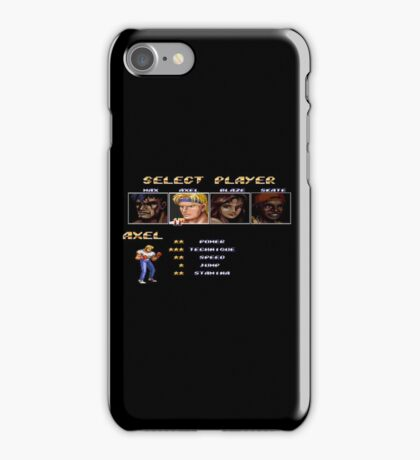 Streets of Rage 2 – Select Axel iPhone Case/Skin
