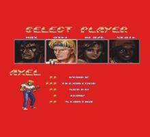 Streets of Rage 2 – Select Axel Baby Tee