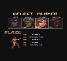 Streets of Rage 2 – Select Blaze Baby Tee