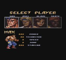 Streets of Rage 2 – Select Max Baby Tee