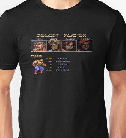 Streets of Rage 2 – Select Max Unisex T-Shirt