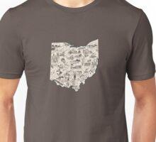 Ohio Vintage Picture Map Unisex T-Shirt
