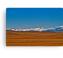 Montana Means Mountains #7 Canvas Print